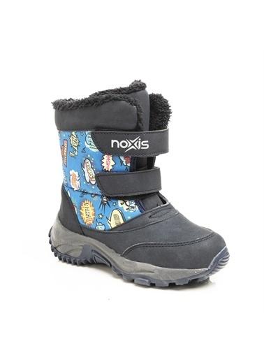 Noxis Noxis Pop-art Unisex Çocuk Kışlık İçi Kürklü Kar Botu Lacivert